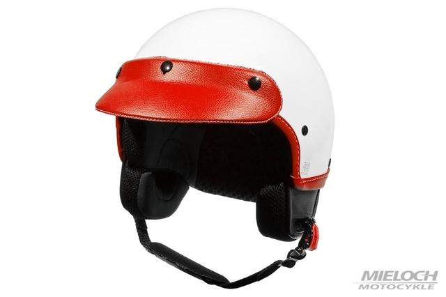 Kask Vespa Demi-Jet Classic, biało-czerwony, XS