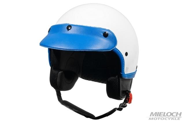 Kask Vespa Demi-Jet Classic, biało-niebieski, XS