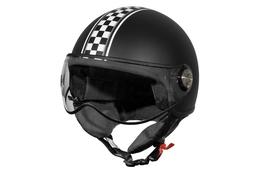 Kask TNT Jet Puck Cafe Racer Italia, czarny