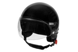 Kask Vespa Demi-Jet Visor 2.0, czarny