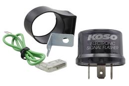 Przerywacz kierunkowskazów Koso Digital, 12V (3 pinowy, max 15W)
