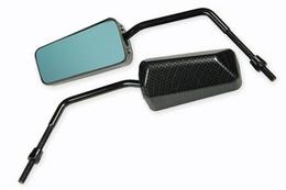 Lusterko STR8 F1 Style Special, carbon / niebieskie szkło
